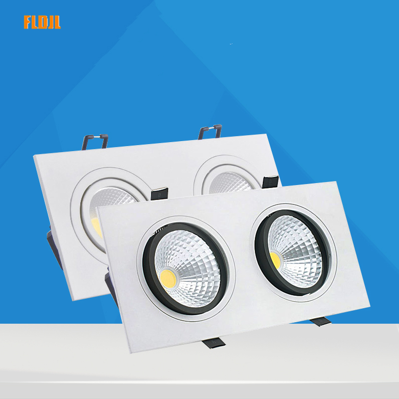 white dimmable <font><b>led</b></font> downlight lamp 7W 9w 12w <font><b>15w</b></font> 35w cob <font><b>led</b></font> spot <font><b>220V</b></font> / 110V ceiling recessed downlights square <font><b>led</b></font> panel light image