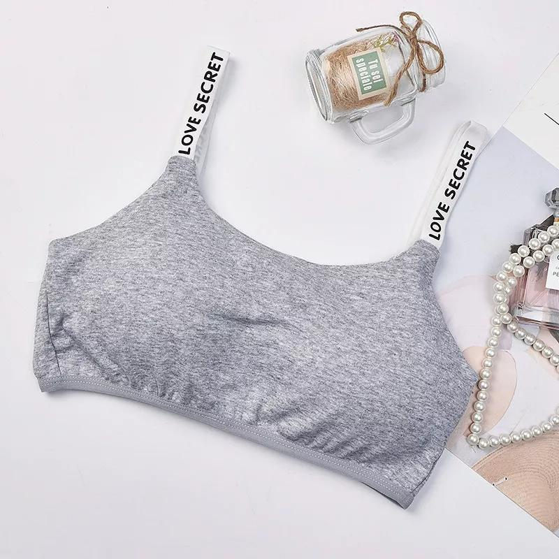 Girls Training Bra Wireless Thin Cup Bra Fashion Comfortable Teenage Underwear 8-15years 5