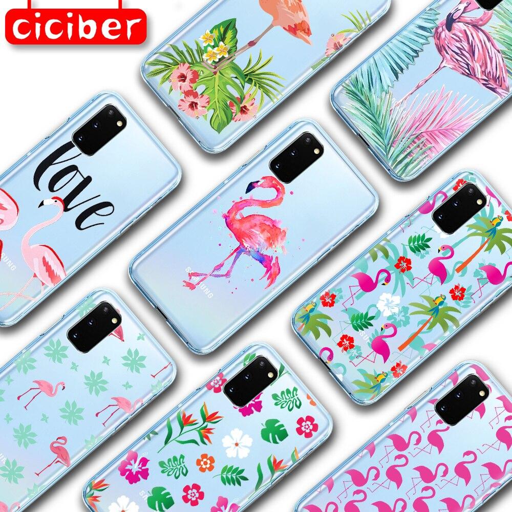 Cute Flamingo Soft TPU Phone Case For Samsung Galaxy S10 S9 S8 S7 S20 Plus Ultra S10e A50 A51 A71 A70 A20E A10 A40 NOTE 10 Plus
