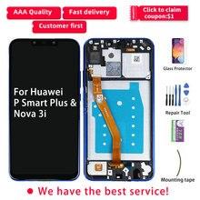 Originele Voor Huawei Nova 3i Lcd scherm Huawei P Smart Plus Lcd Touch Screen Met Frame P Smart + Plus display INE LX1r INE LX2