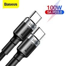 Baseus PD 100W USB C Zu Typ C Kabel QC 3,0 Quick Charge 4,0 Daten Kabel Schnelle Lade Für samsung Xiaomi Macbook Pro USB C Kabel