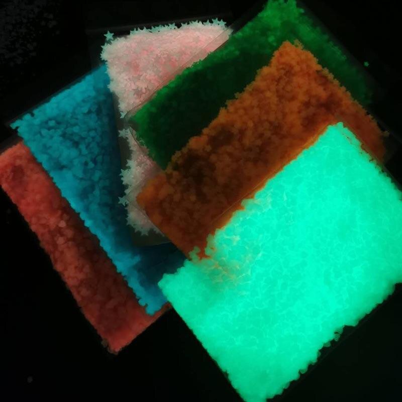 em pó brilho no escuro noctilucent pigmento