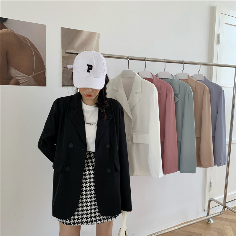 Summer New Casual thin Blazer Jacket Women Fashion Long Sleeve Work Suit Coat Office Lady Solid Slim Blazers ka921