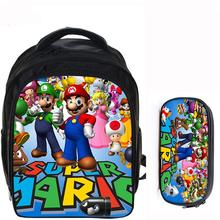13 Inch Super Mario Bros Sonic Backpack Kids School Bags for