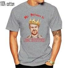 Tee estranho Coisas Meu Patrono É Jim Hopper T Camisa Preta Homens S-6xl Regular Camiseta de Algodão Para Homens Camisa Dos Homens T T-Shirt Engraçado