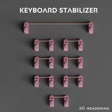 Lubricated Mechanical Keyboard Stabilizer Cherry Mx Switch Pcb Mounted Pink Case 6.25u 2u Modifier Key Stabiliser Plate Mounted