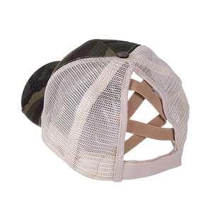 Mesh-Hat Baseball-Cap Ponytail Criss Adjustable Anti-Uv Women Sports Sweat Quick-Dry