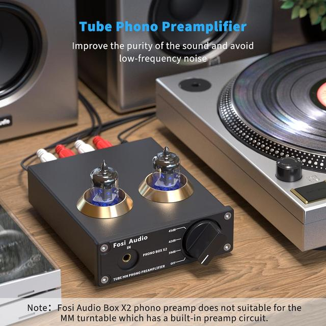 Turntable Phonograph Preamplifier  Box X2 For DIY 3