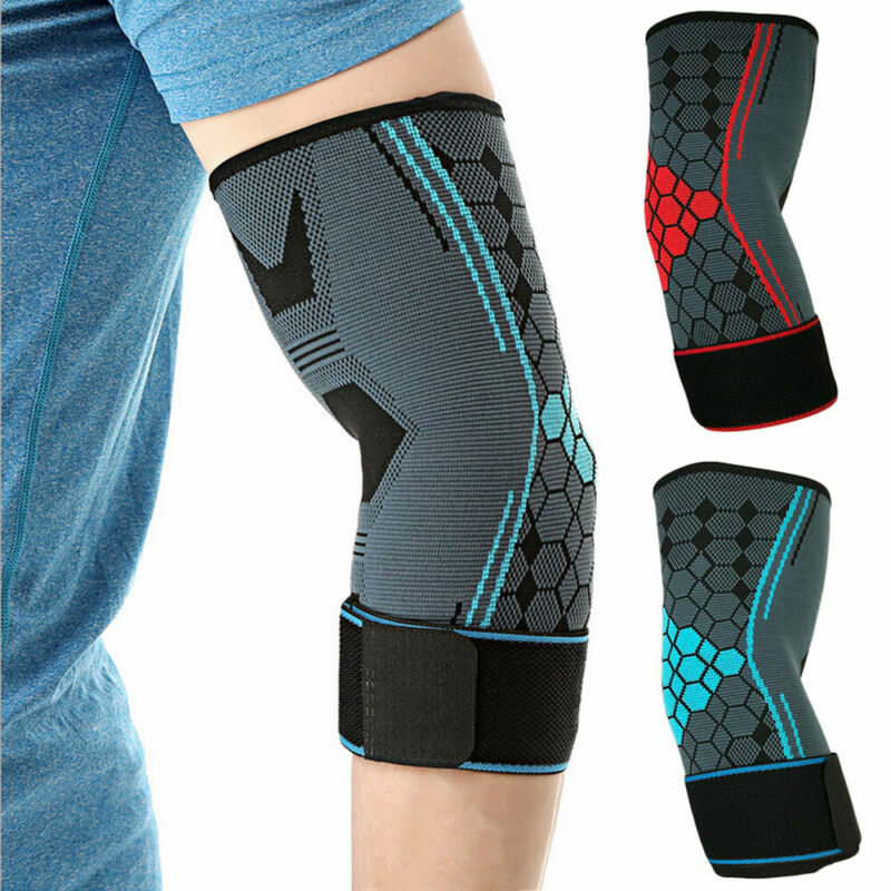 1PC Sports Fitness Training Protectors Basketball Elbow Pads Tennis Non Slip Adjustable Elbow Pad Support Brace Strap