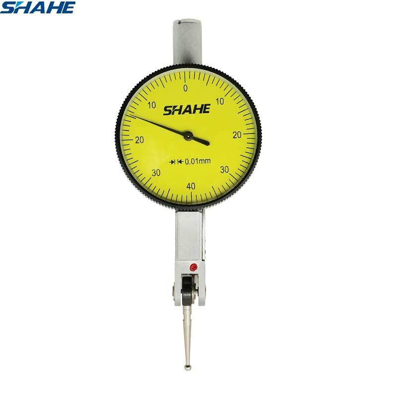 Shahe 0-8mm 0.01mm dial indicador de teste ferramenta de relógio comparador medidor de ferramenta de medição