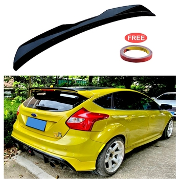 For Ford Focus 2012-2018 ST MK3 Hatchback Spoiler ABS Plastic Carbon Fiber Color Car Tail Wing Decoration Rear Roof Lip Spoiler carbon fiber rear trunk wings m4 spoiler for bmw 4 series f36 420i 428i 435i gran coupe 4 door 2013 gloss black spoiler wing