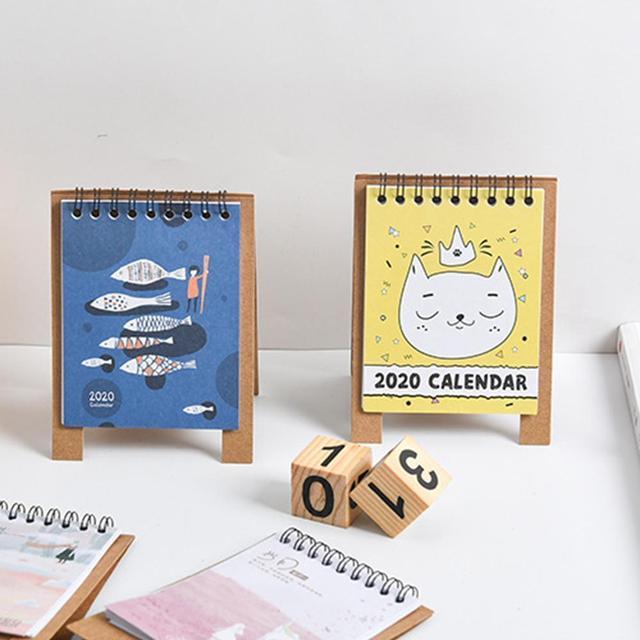 2020 New Year Kawaii Cartoon Table Calendar Mini Table Desk Calendar Agenda Organizer Planner Book 2020 Calendar 3