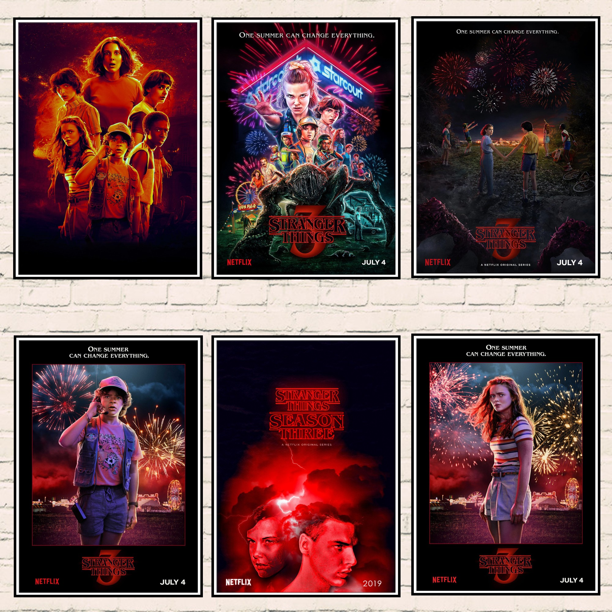 Stranger Things Poster A4 A3 A2 A1 A0 Gift Present SW0049