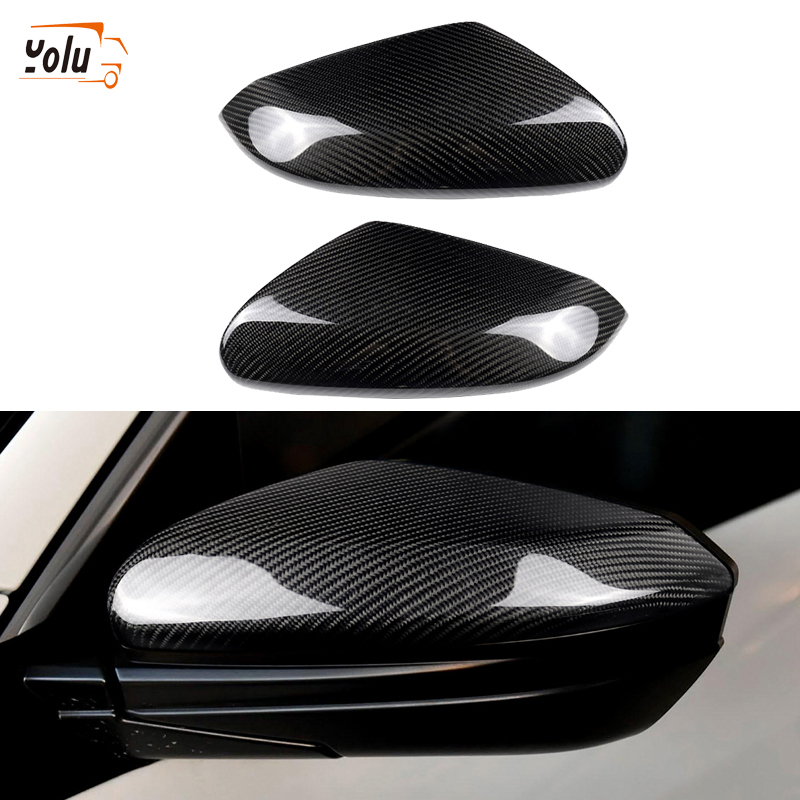 1 Pair Rearview Side Mirror Cover Trim for Honda CRV 2017-Carbon Fiber Style