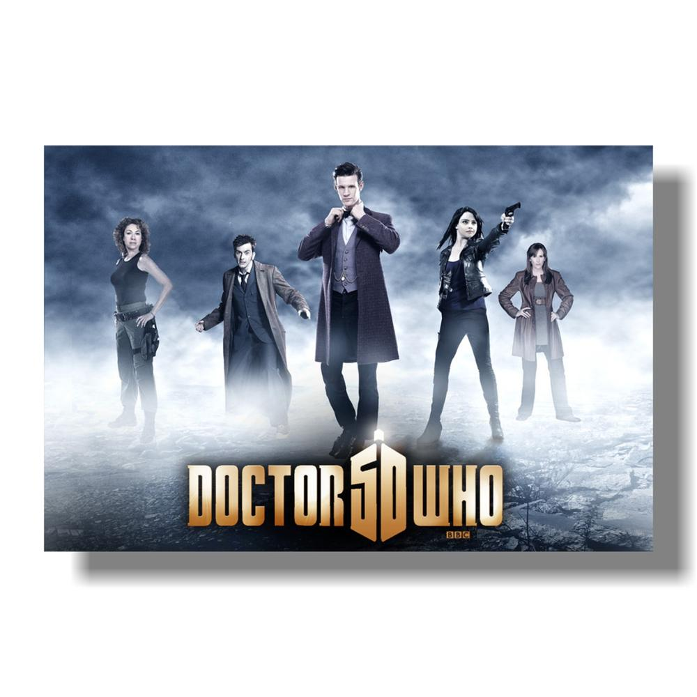 Doctor Who - Glow in The Dark - TV Show Poster (The Doctor, The Tardis & The Season 7 Team) (Amy, Rory, Clara, River Song & The image