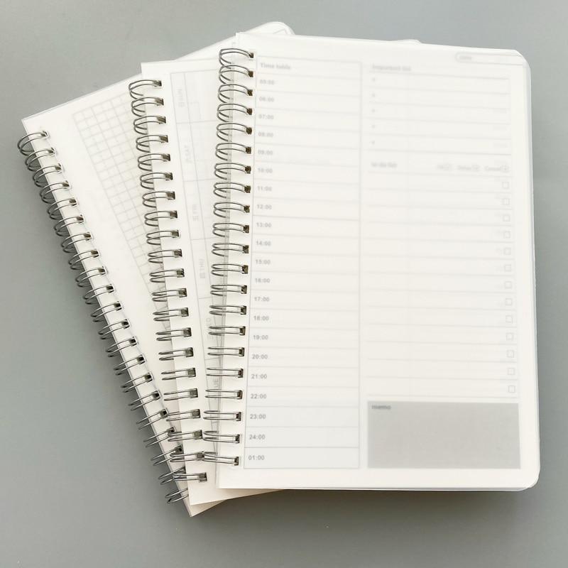 2019 2020 Daily Weekly Monthly Notebook Planner Spiral A5 Notebook Time Memo Planning Organizer Agenda School Schedule Supplies