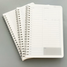 Organizador diário e semanal para caderno, planejador de caderno espiral a5, tempo de caderno, planejador de planejamento, agenda, material de horário escolar, 2020