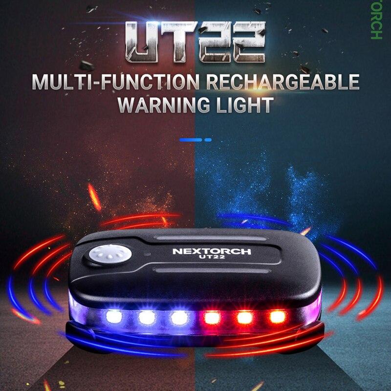 Полицейский Предупреждение стробоскоп NEXTORCH UT22, Наплечные огни, перезаряжаемый светодиодный фонарик, лампа с зажимом безопасности для нару...