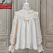 Lovely Teddy ~ Vintage Long Sleeve Lolita Blouse Ruffled Shirt by Alice Girl ~ P