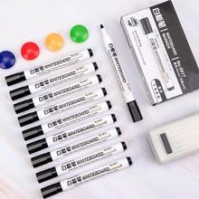 10Pcs/Batch Black school classroom supplies blackboard pen dry marker pen can wipe children's page whiteboard pen