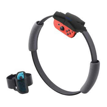 New Fitness Ring For Nintendo Switch NS Joycon With Leg Strap Accessories Adjustable Elastic Leg Strap Gamepad Accessories