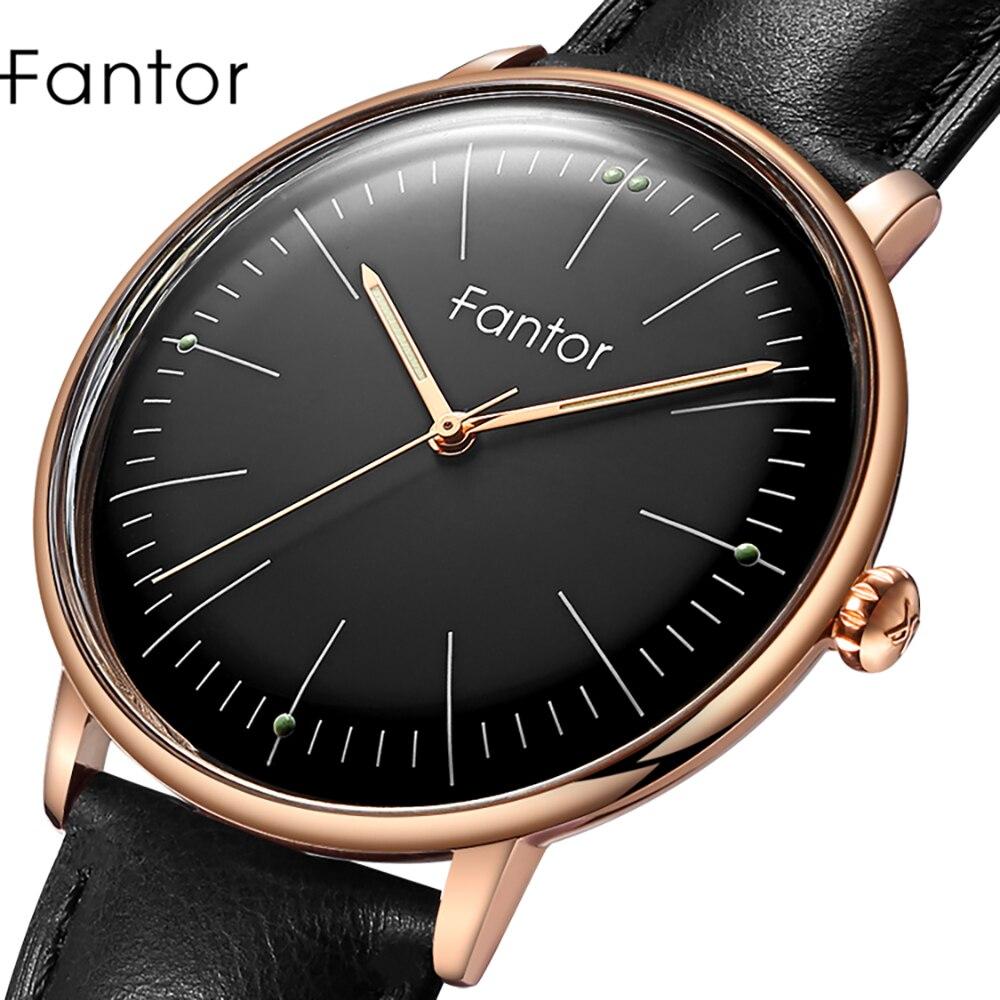 Fantor 2019 Men Watches Luxury Brand Business Leather Strap Quartz Waterproof Casual Dress Wristwatch Mens Classic Watch Clock