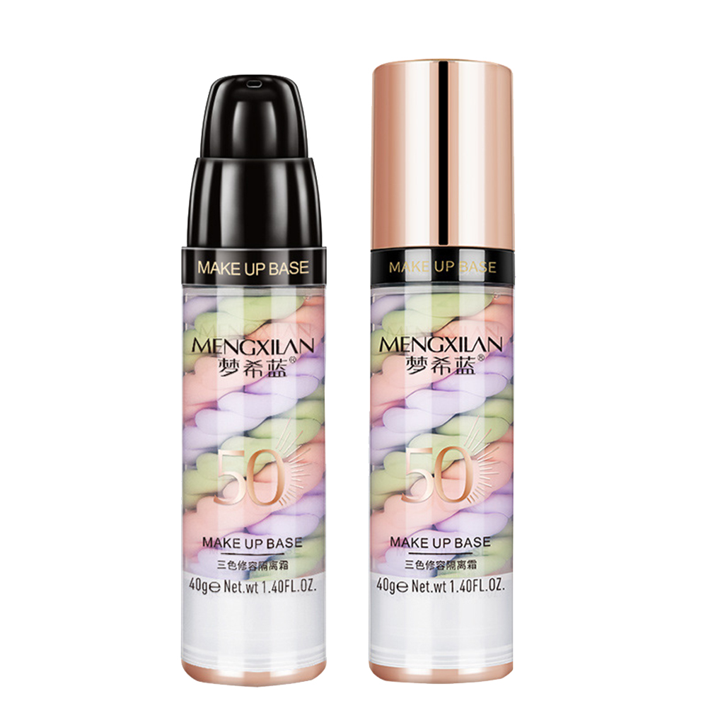 40g Three-color Makeup Primer Long Lasting Cream Face Base Foundation Concealer Smoothing Oil Control Professional Natural