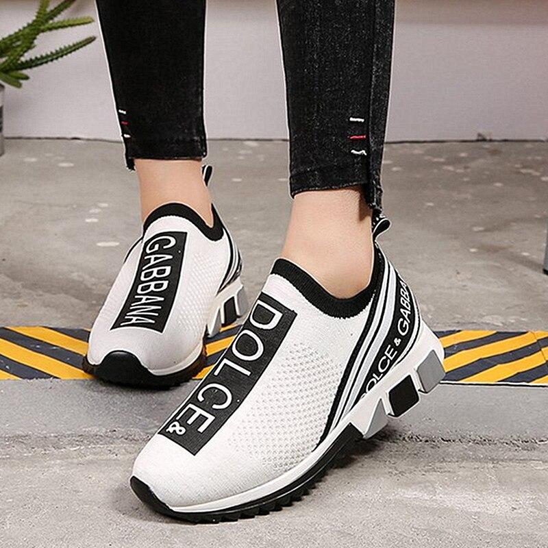 Кроссовки-носки унисекс, Вулканизированная подошва, без шнуровки, повседневная прогулочная обувь для пар, 2021