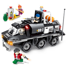 City Technic Police Military Trucks WW2 Swat Cars Armoured Vehicle Building Blocks Clone Troopers Soldiers Weapon Set Bricks Toy 21pcs machine gun moc weapon pack military accessories blocks city police ww2 soldiers figures bricks parts compatible legoed