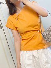 Женский пуловер с круглым вырезом свободная летняя футболка