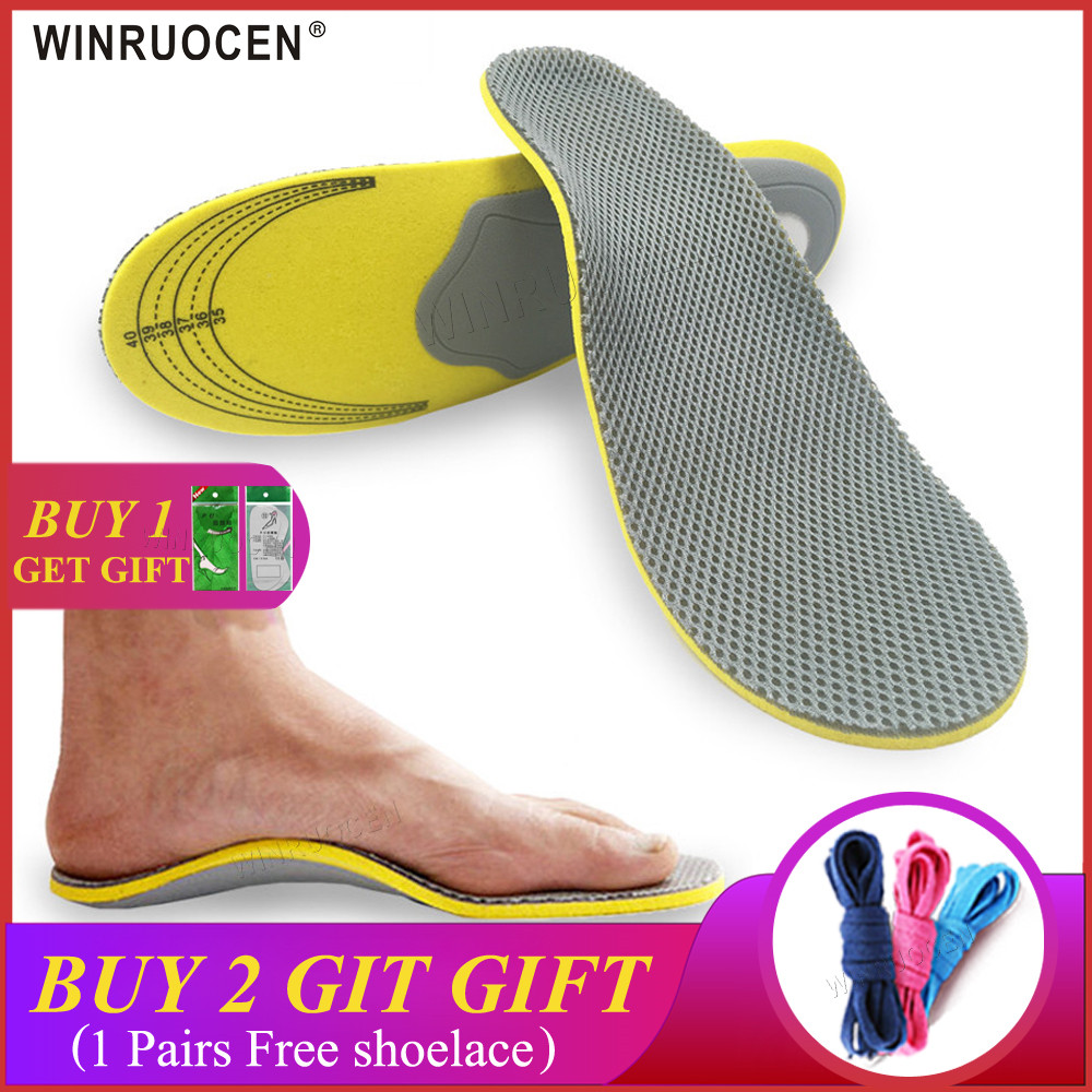 Comfortable Orthotics Orthopedic Flat Foot Insoles Arch Support For Men Woman Shoes Shock Absorption Sports Insoles Pads