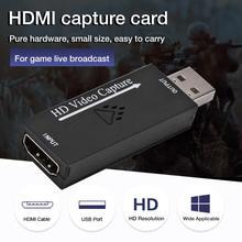 Новейший Аудио-Видео Карты захвата HDMI к USB версия USB 2.0 запись видео 4K с разрешением 1080p через экшн-камеры для HD видео игровой педагогической видеоконференции