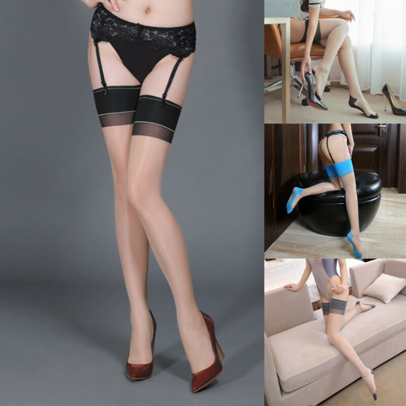 New Women's Summer Sexy Ultra Sheer Core-spun Silk Pantyhose Tights Fashion One Line Design Tights Stocking Mesh Sheer Pantyhose