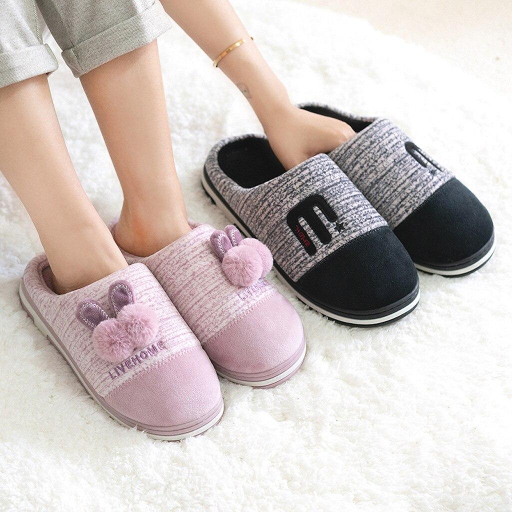 SAGACE Warm Slippers Floor-Shoes Winter Women Plush Indoor Cute Soft No