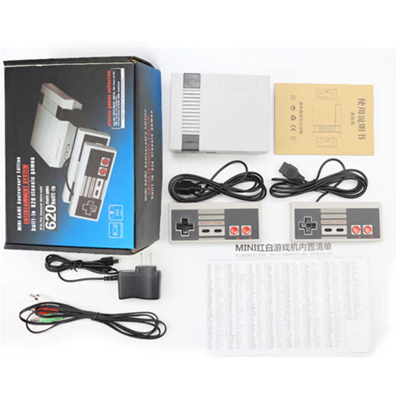 ألعاب التلفزيون المصغرة وحدة تحكم ريترو 8 بت لاعب وحدة التحكم لعبة فيديو المدمج في 620 الألعاب الكلاسيكية ممر الألعاب HD آلة نينتندو ds
