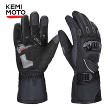 KEMiMOTO Winter Warm Motorcycle Gloves Touch Screen Waterproof Windproof Protective Winter Gloves Men Guantes Moto Luvas цена