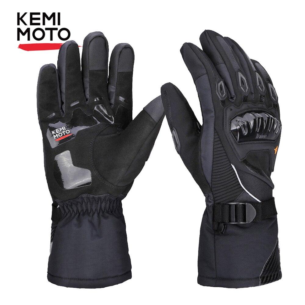 KEMiMOTO hiver chaud Moto gants écran tactile étanche coupe-vent protection hiver gants hommes Guantes Moto Luvas