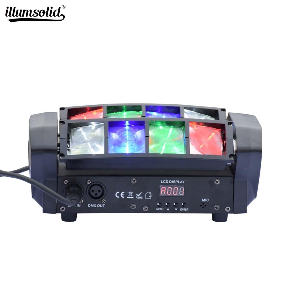 Stade 8X6W Mini LED lumière araignée DMX512 LED lumière principale mobile RGBW LED faisceau lumineux Club Dj Disco projecteur