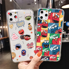 Cute Cartoon Soft Sesame Street Phone Case for iphone 12 XS MAX XR SE 2020 Coque for iphone 7 6s 8 Plus 11 pro max Cookie Elmo