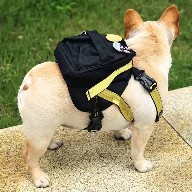 Luxury Pet Dog Harness Backpack Chihuahua Backpack Bichon Frize School Bag Harness Pug Harness French Bulldog Breast Strap P-007