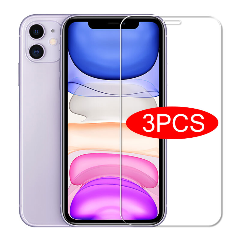 3PCS Full Cover Protective Glass For iPhone 11 Pro XS Max X XR Tempered Screen Protector For iPhone 7 8 6 6s Plus SE 2020 Glass Phone Screen Protectors  - AliExpress