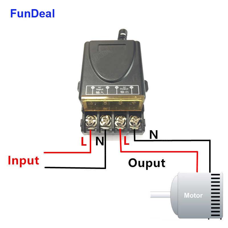 433MHz 30A 1 kanal alıcı kablosuz RF röle uzaktan kumanda anahtar modülü 1000 metre verici su pompası için güç kapalı