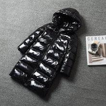 цена на -30 Degrees Warm Down Jacket For Girls  Kids Girls Winter Hooded Jacket  2-12 Years Teenagers Coat Children Boys Outerwear