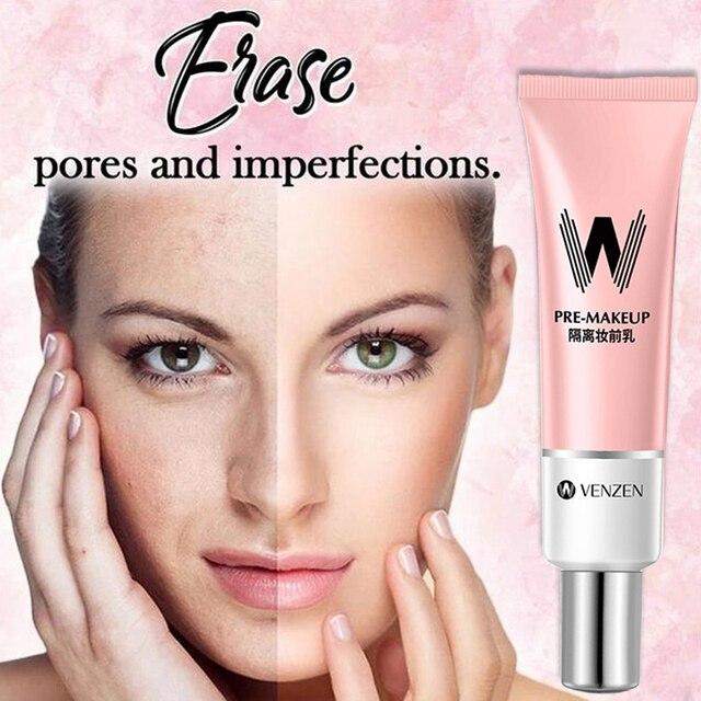 Long Lasting Face Primer Makeup Base Concealer Nature Rose Essence Pore Away Foundation Oil Control Facial Matte Primer Korean 5