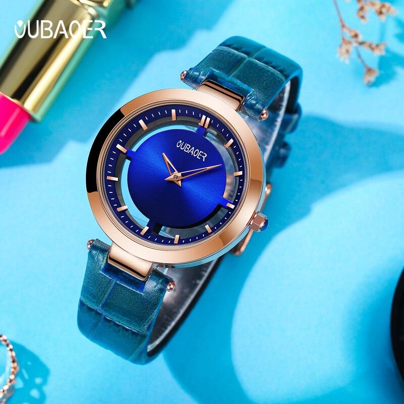 OUBAOER наручные часы для девочек женские модные часы с браслетом Femme 2019 женские часы кварцевые наручные часы Relogio Feminino