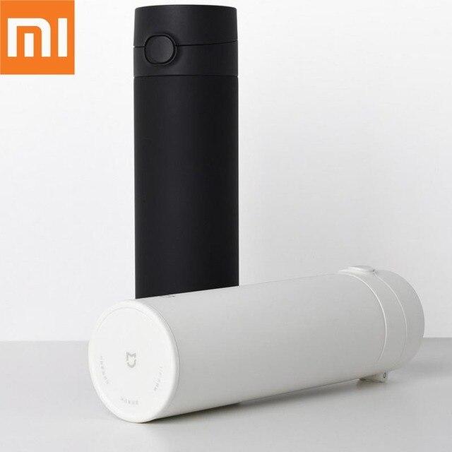 Xiaomi Mijiaถ้วย2สแตนเลสสูญญากาศ480Mlความจุถ้วยน้ำแบบพกพาฉนวนกันความร้อนล็อคเย็นยืดหยุ่นสวิทช์