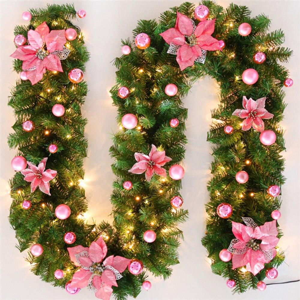 Image 5 - 2020 Novo 270 centímetros de Natal Verde Rattan Com Arcos Luzes  LED Decoração de Natal Suprimentos de Natal Ano Novo Decoração de  NatalEnfeites p/ árvore de Natal
