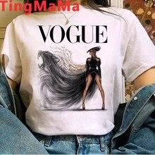 2021 Fashion Summer Tops T Shirt Women New Vogue Graphic Tees Paris E-girls 90s Harajuku Princess T-shirt Unisex Tshirt Female