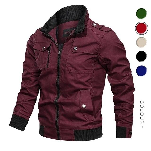 2019 Military Jacket Men Spring Autumn Cotton Windbreaker Pilot Coat Army Men's Bomber Jackets Cargo Flight Jacket Male Clothes 23