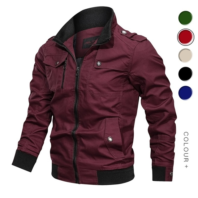 2019 Military Jacket Men Spring Autumn Cotton Windbreaker Pilot Coat Army Men's Bomber Jackets Cargo Flight Jacket Male Clothes
